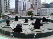 Fonte na Praça da Paz em Praia Grande - SP. Impermeabilização de espelho d´água