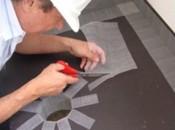 Colocação Tela Poliéster-PVC em ralo e rodapés
