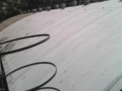 Transpetro. Petrobras. Duque de Caixas-RJ. Impermeabilização de telhados metálicos . Área aproximada 1.080m2